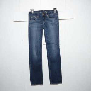 American eagle straight womens jeans size 4 L 2588